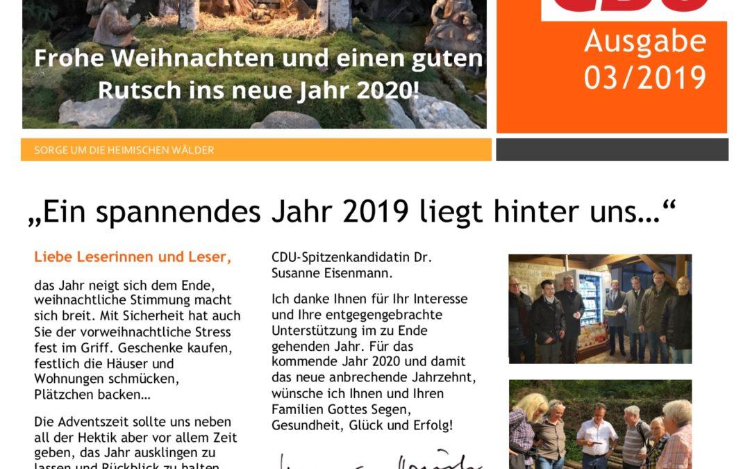 Newsletter 03/2019 – frohe Weihnachten!
