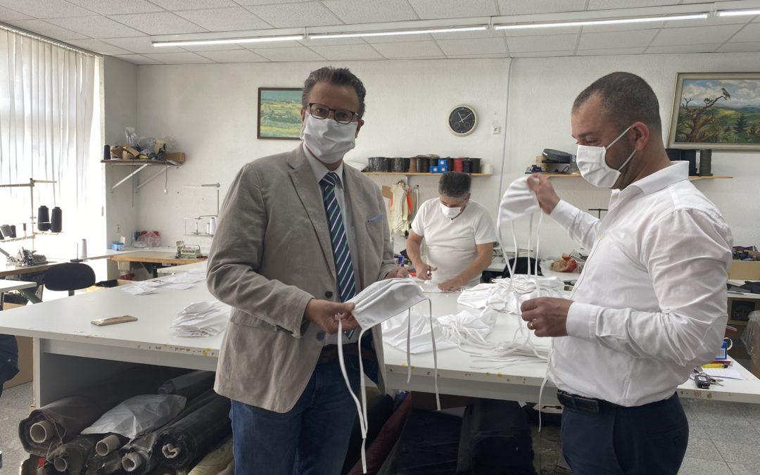 Die Mundschutzproduktion im NOK läuft auf Hochtouren
