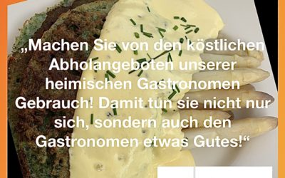"""""""Gastronomen und Hoteliers sind ein wichtiger Bestandteil unserer Kulturlandschaft, wir müssen sie in dieser schwierigen Zeit unterstützen!"""""""