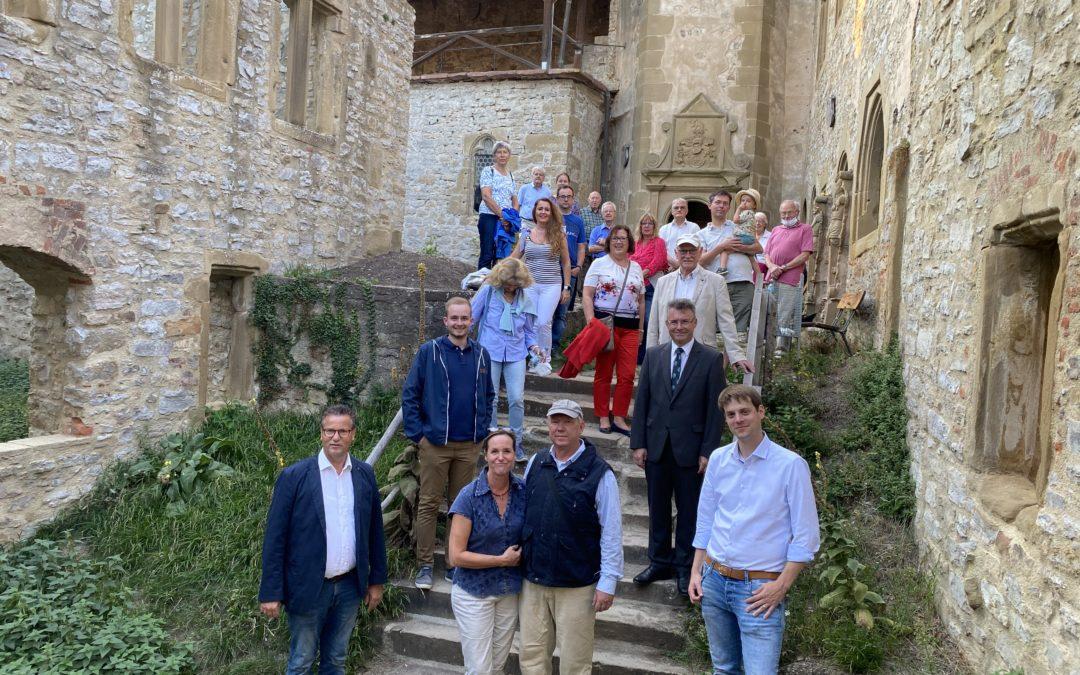 Besuch mit der CDU Mosbach auf der Burg Hornberg