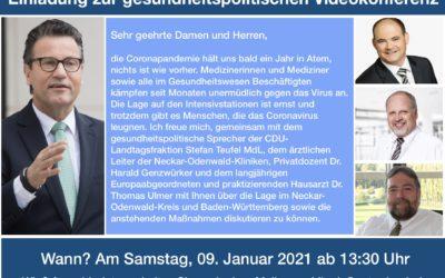 Einladung zur gesundheitspolitischen Telefon- und Videodiskussion