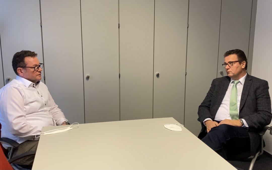 Im Gespräch mit Handwerkskammerpräsident Hofmann