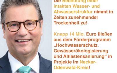 Rekordverdächtige 14 Mio. Euro fließen in Wasserinfrastruktur im NOK
